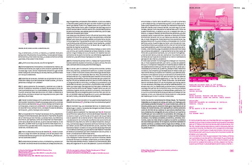 Resultado de imagen de Lo que la arquitectura no podía hacer, revista PLOT,2013