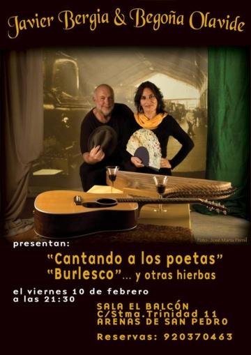 """Javier Bergia & Begoña Olavide – """"A los Poetas, Burlesco y otras Hierbas"""" Gira 2017"""