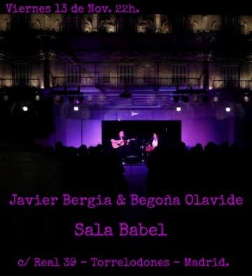 Javier Bergia & Begoña Olavide en concierto