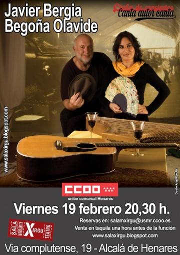 """Javier Bergia & Begoña Olavide """"Cantando a los Poetas de Un Tiempo a esta Parte"""""""