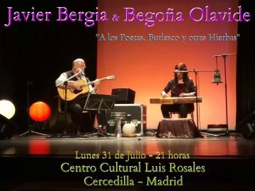 """Javier Bergia & Begoña Olavide  """"A los Poetas, Burlesco y otras Hierbas"""""""