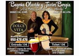 """Javier Bergia & Begoña Olavide concierto en """"la Dolce Vita"""" Mojácar playa"""