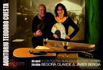 """Javier Bergia & Begoña Olavide  """"Poetas de un Tiempo…Burlesco y otras Verduritas Salteadas"""""""
