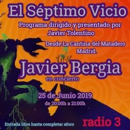 El Séptimo Vicio ( RNE –  Radio 3 ) – Javier Bergia en directo.