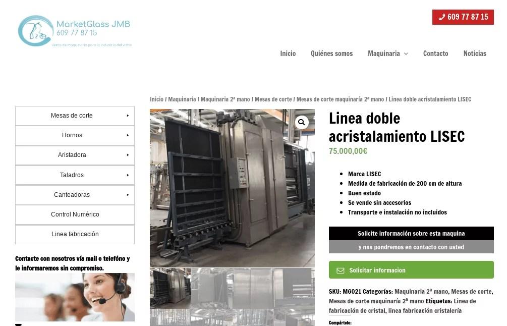 Diseño catálogo online maquinaria