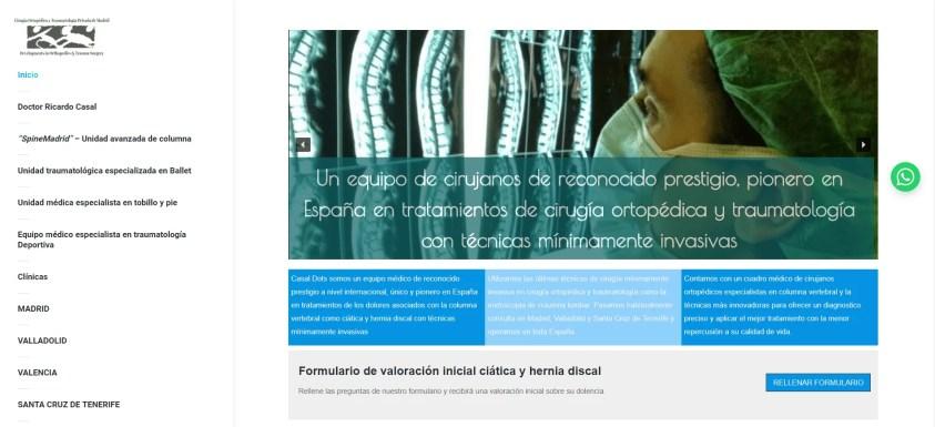 Diseño web para equipo medico 1