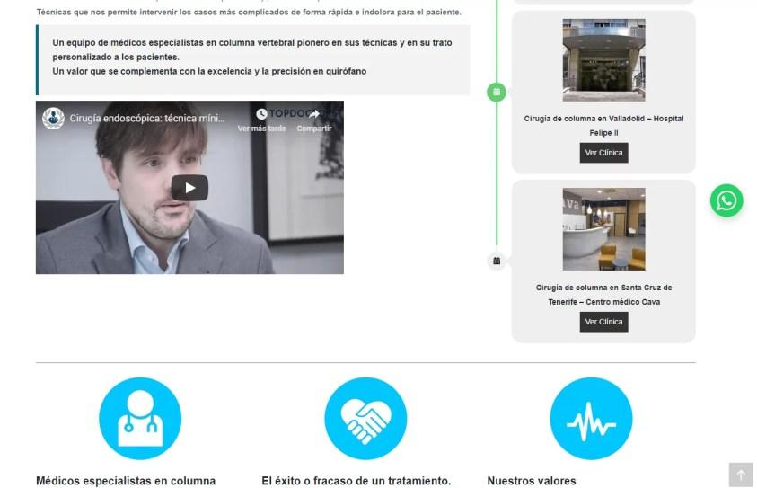 Diseño web para equipo medico 2