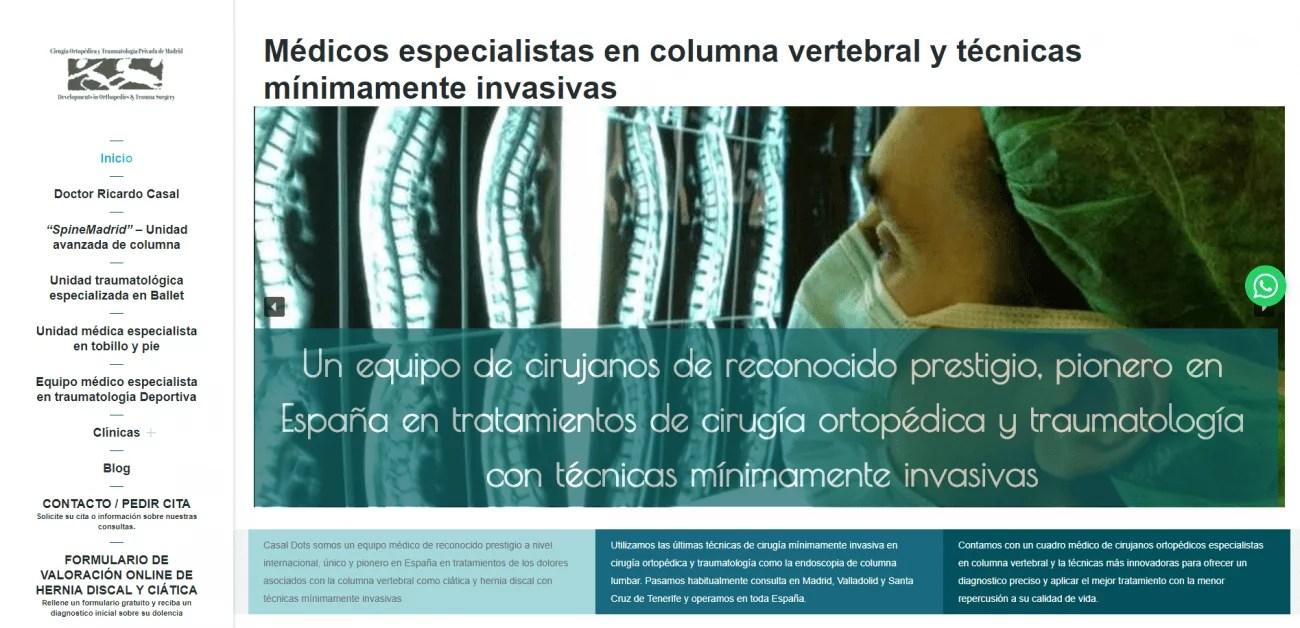 Diseño web para equipo médico privado