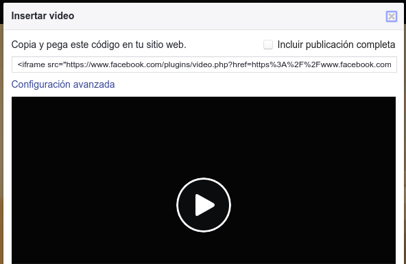 insertar video Facebook - vídeos de YouTube y Facebook en una web