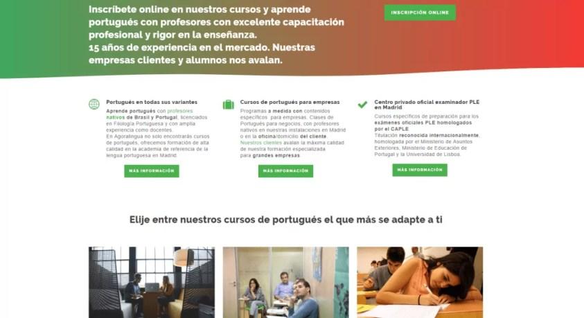 Diseño y posicionamiento web para academia de idiomas 2