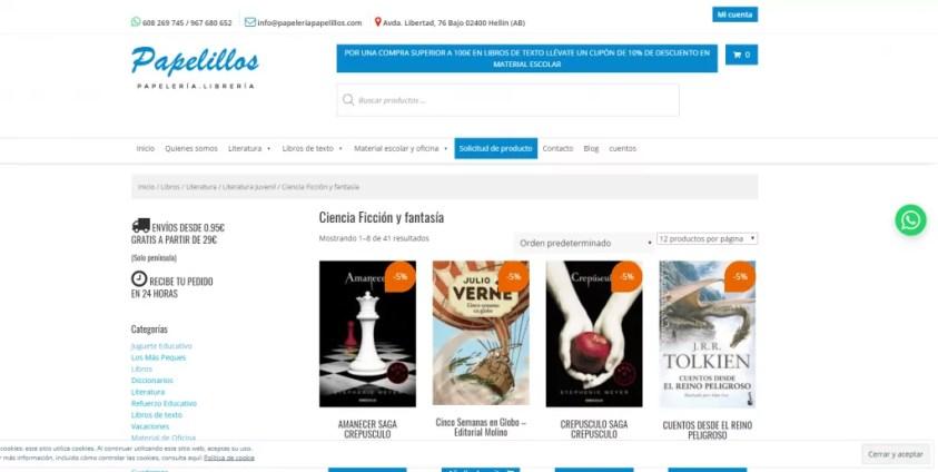 Diseño de tienda online para Papelería 1