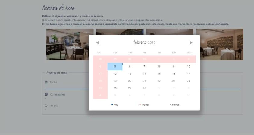 Diseño web para restaurante 4