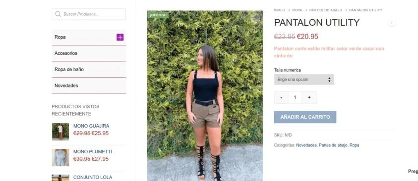 Diseño tienda de ropa online 2