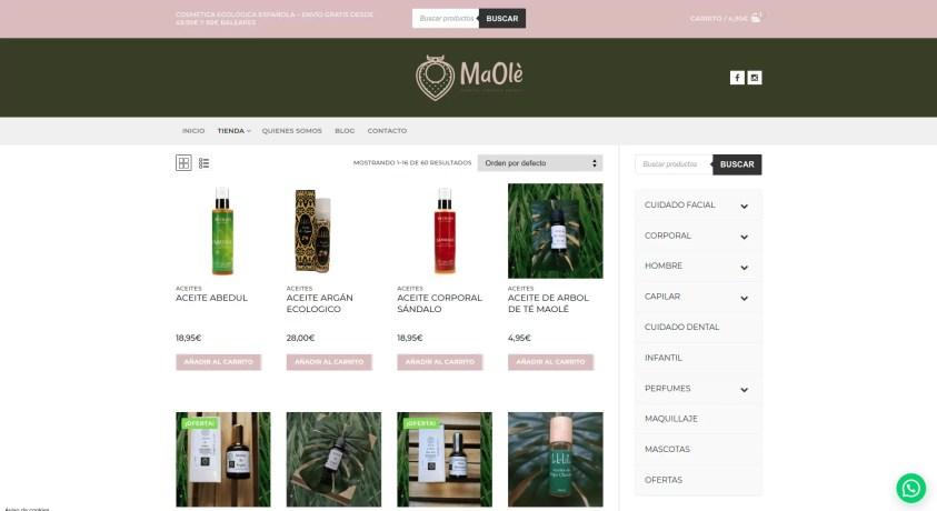 Tienda online en Toledo Maole