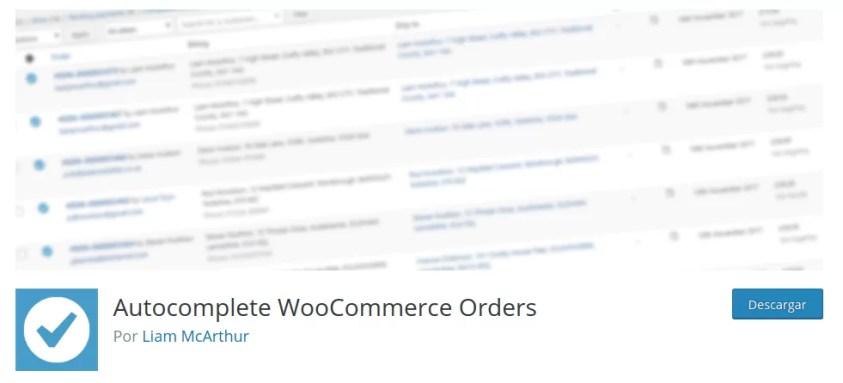 Completar pedidos automáticamente en WooCommerce con un plugin