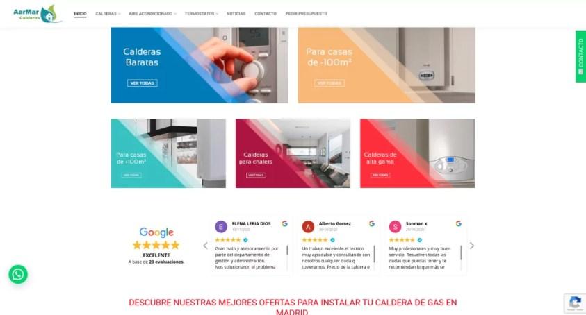 Diseño de catálogo web con formularios 2
