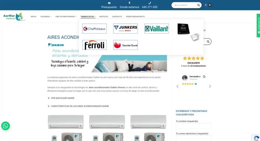 Diseño de catálogo web con formularios 3