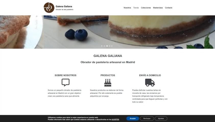 Diseño de pagina web para pastelería