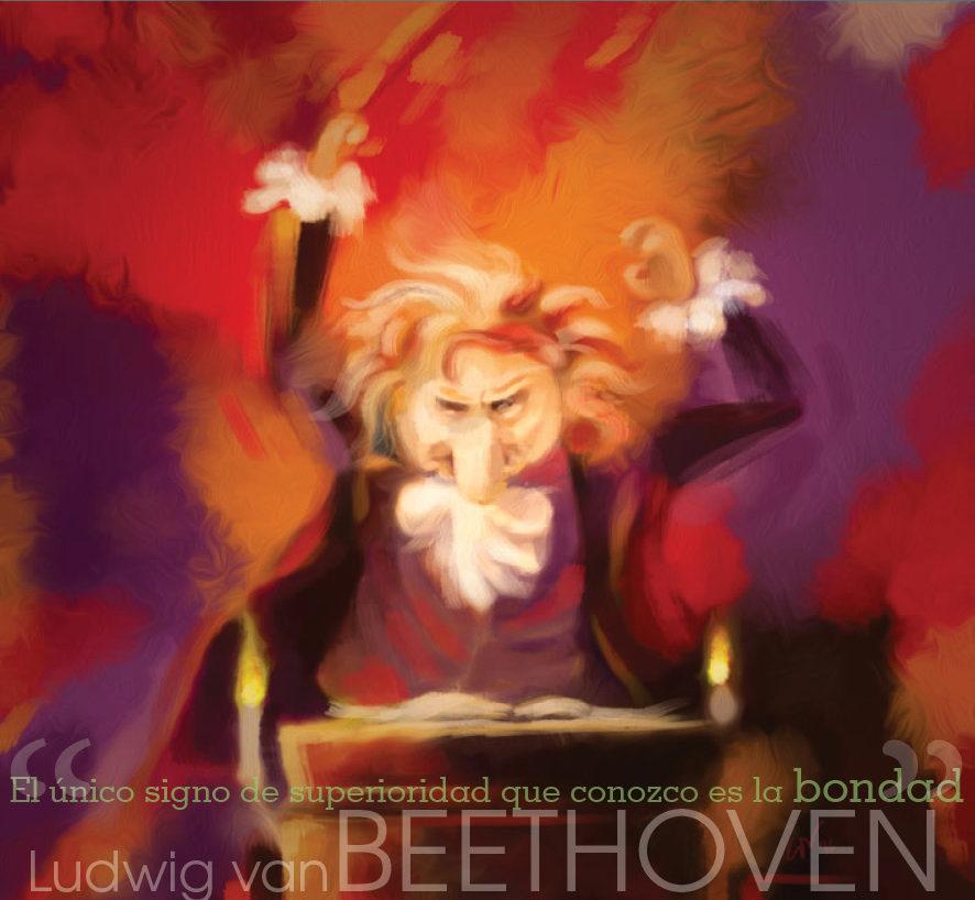 Beethoven, músico alemán, precursor del romanticismo, es el autor de la oda a la alegría