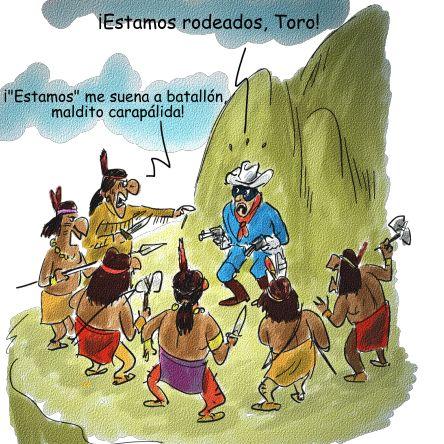 El llanero solitario y Toro...o tonto