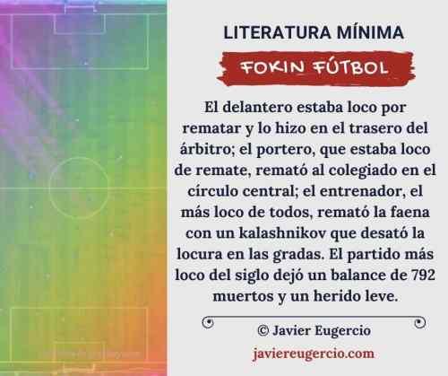 microrrelato ilustrado de Javier Eugercio: Fokin fútbol