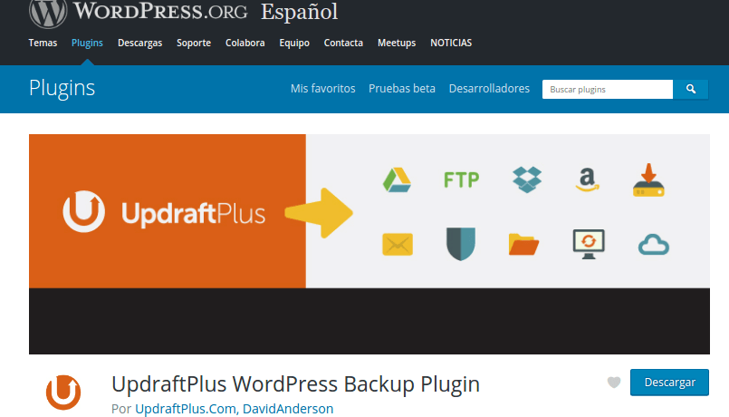 Copias de Seguridad en WordPress