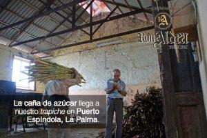 Pesado de Caña de Azúcar · Proceso de Elaboración Ron Aldea · La Palma · Islas Canarias