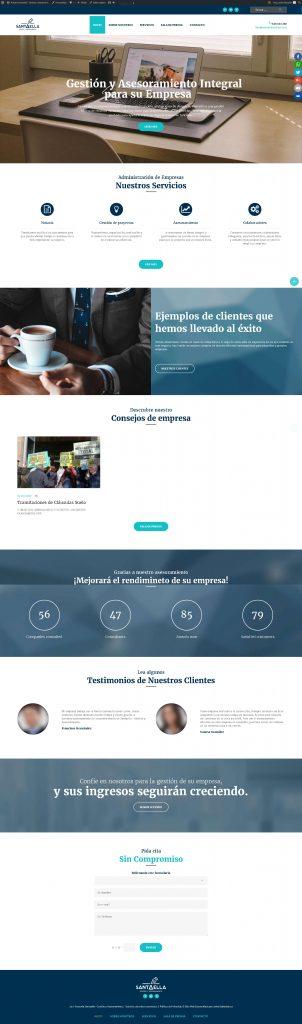 Diseño Web Asesoría Santaella · Gestión y Asesoramiento · Los Llanos de Aridane · La Palma