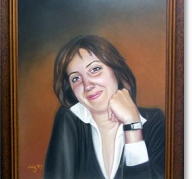 Retrato Mª Eugenia · Pastel sobre papel