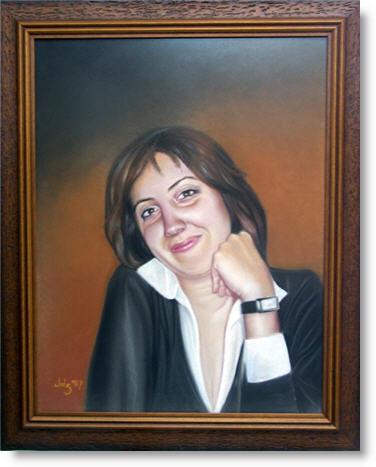 Pintura · Retrato · Pastel sobre papel · javiersebastian