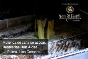 Molienda Caña de Azúcar · Proceso de Elaboración Ron Aldea · La Palma · Islas Canarias