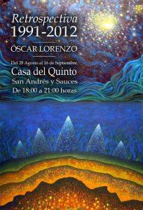 """Cartel Exposición de Pintura """"Retrospectiva"""" de Oscar Lorenzo"""