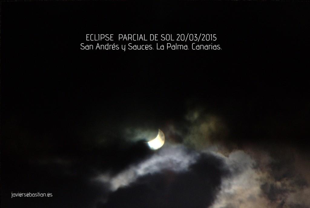 ECLIPSE PARCIAL DE SOL 20/03/2015 San Andrés y Sauces. La Palma. Canarias.