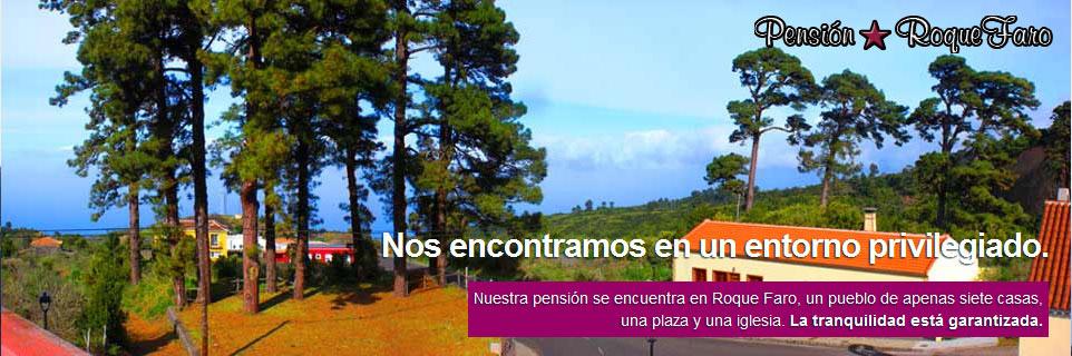 Diseño publicitario Pensión Roque Faro · Garafía · La Palma