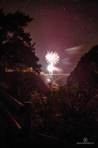 Fotografía Nocturna: Fuegos Artificiales desde el Puente de Los Tilos. San Andrés y Sauces