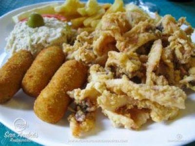 Fotografía Gastronómica · Croquetas, Chipirones y Ensaladilla · Restaurante San Andrés · La Palma