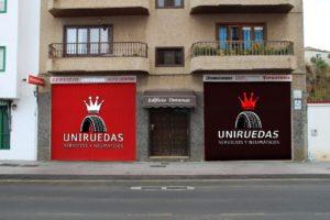 Rotulación Uniruedas · Servicios y Neúmaticos · San Andrés y Sauces · La Palma
