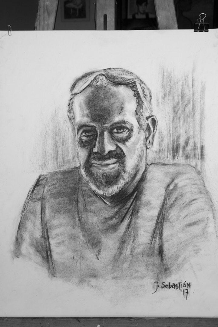 Gonzalo. Retrato al Carboncillo. Papel Canson 150 gr. Javier Sebastián 2017
