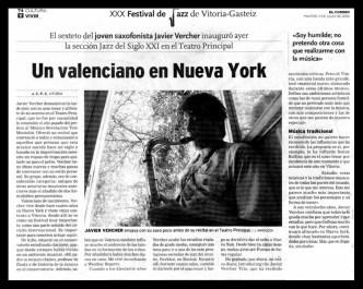 Critica Prensa Pais Vasco VERCHER Festival Vitoria
