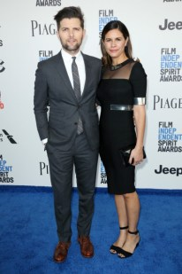 Mandatory Credit: Photo by Matt Baron/BEI/Shutterstock (8434849bx) Adam Scott and Naomi Scott 32nd Film Independent Spirit Awards, Arrivals, Santa Monica, Los Angeles, USA - 25 Feb 2017