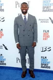 Mandatory Credit: Photo by Matt Baron/BEI/Shutterstock (8434849ao) Trevante Rhodes 32nd Film Independent Spirit Awards, Arrivals, Santa Monica, Los Angeles, USA - 25 Feb 2017