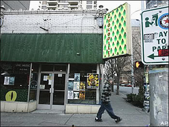 Aspecto del Crocodile Cafe en diciembre de 2007