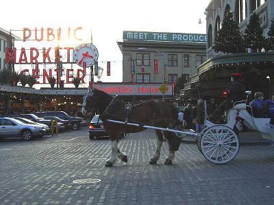 Seattle a través de los ojos de Mariano Lozano. Imagen del mercado de Pike Place
