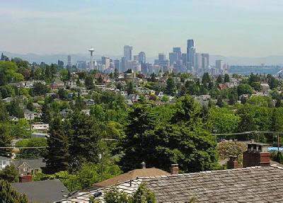 Vista de Seattle desde su barrio residencial más grande
