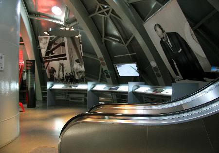 Interior del Atomium