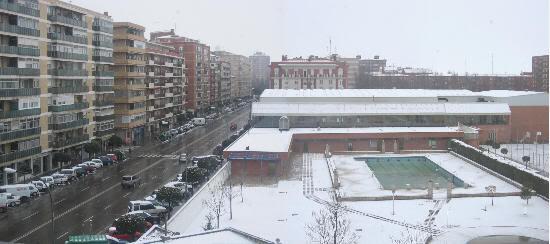 Campo de la Juventud (Palencia) nevado