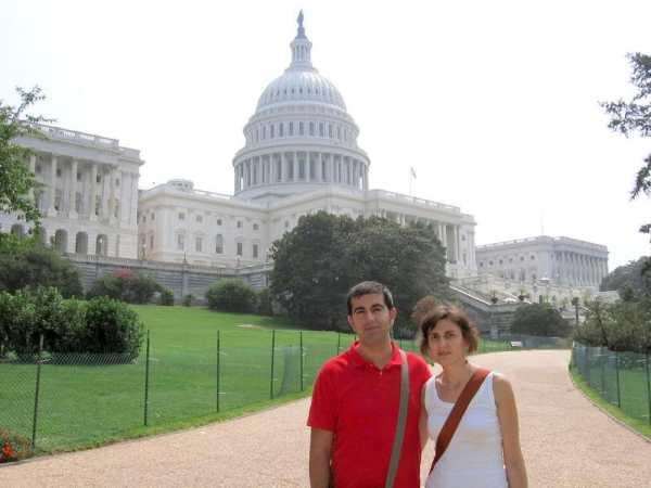 Pilar y yo en el Capitolio de Washington D.C.