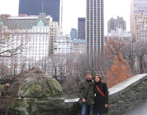 En Central Park en Año Nuevo