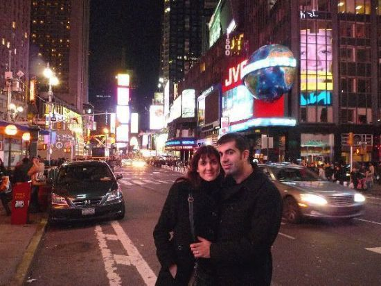 En Times Square cerca de Nochevieja (¡¡ otra vez !!)