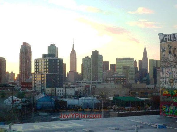 Vistas de Queens desde el vagón del metro, mientras volvemos a Manhattan